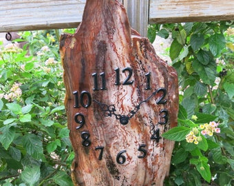 Petrified Wood, Natural Stone Wall Clock, FREE Shipping