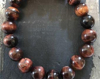 Dark Brown Semi Precious Stone Bracelet