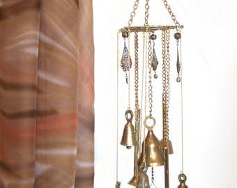 WIND CHIME Brass Bells Chime Mobile Window Porch Deck Patio