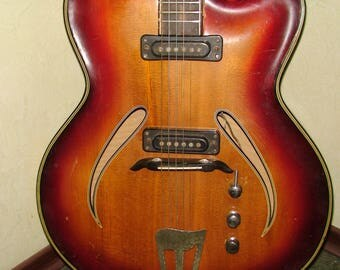 Musima Record 17 1973 Guitar Vintage and very Rare