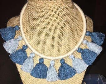 Kids handmade tassel necklace