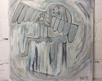 Original Abstract Painting Spiritual Art Acrylic On Canvas Board (British Female Artist)
