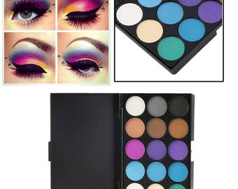 15-Color Matte/Shimmer Eyeshadow Palette
