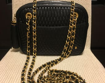 Authentic Bally Vintage Quilted Chain Bag