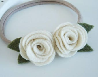 Felt Flowers on Nylon