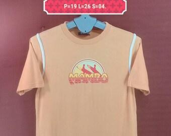 Vintage Mambo Tee Spellout Shirt Orange Colour Size S Made in Australia Polo Ralph Lauren Shirts Nike Shirt Band Shirts Bob Marley Skate