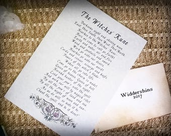 WICCAN Book of Shadows Page ~Witches Rune~