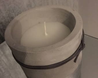 Large Silver Dipped Concrete Candle - Fig Olive - Gift for Her - Gift for Him - House Warming - Silver Candle - Scented Candle -Aromatherapy