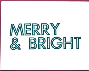 Letterpress cards / holiday / merry & bright
