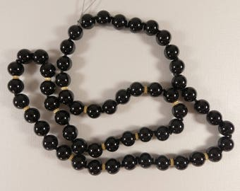 Onyx Necklace, Black Onyx Necklace, Onyx and Gold Necklace