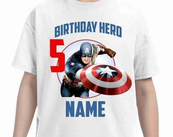 Captain America Birthday Shirt