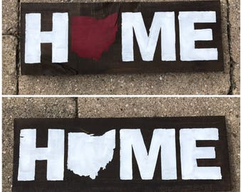 Home State Sign, Home Sign, Home State, Ohio Sign, Home, Pallet State Sign, State Sign, Customized Home State Sign, Rustic Home State Sign
