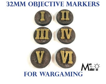 Objective Markers | Warhammer 40000| Warhammer 40K | Age Of Sigmar | Space Marines | Wargaming | Terrain | 28mm | Miniature | Imperial |