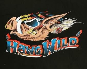 """80s Harley """"Hawg Wild"""" tee XXL"""