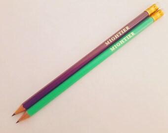 Inspirational Pencils. Quote Pencils.  Personalised Pencils. Teacher gift. Graduation gift. Back to school. Feminist. Stocking Stuffer.