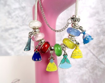 PRE-ORDER 5Wks Princess Party Charm Bead Bracelet