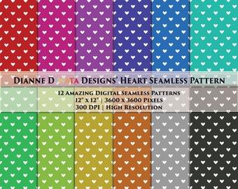 Heart Seamless Pattern, Heart Background, Heart Scrap Booking, Colorful Heart Pattern, Colorful Heart Wallpaper, Heart Digital Paper