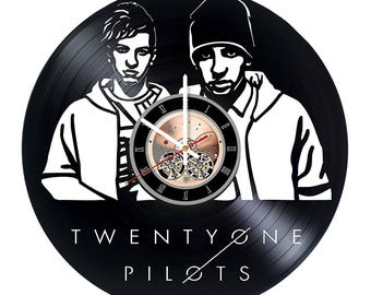 Twenty one pilots Vinyl Record Wall Clock gift idea wall art decor
