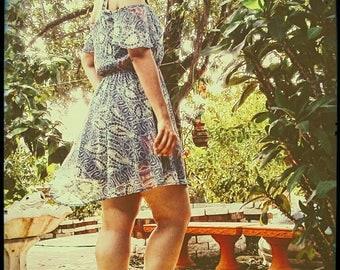SALE!! 70s Inspired Off Shoulder Dress