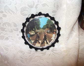 Abbey Road Beatles Button