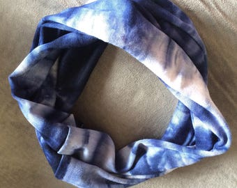Headband, Hair accessories, Womens headband, beach, boho, yoga, summer, tie dye headband, boho headband, womens tie dye, July 4th, blue