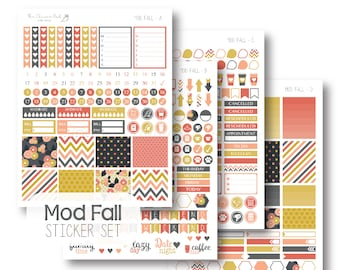 EC Mod Fall Planner Stickers, Sticker Kit, Weekly, EC Vertical Planner Stickers, Monthly Sticker Set by The Clever Owl Paper Co.
