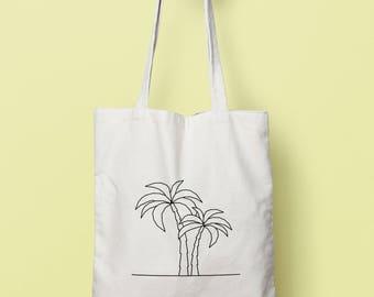 Geometric palm trees bag (duplex)