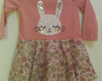 Size 2 L/S Sequined Bunny Dress