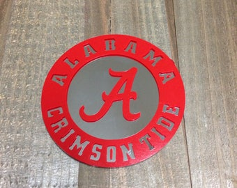 Alabama Crimson Tide Mirror with Vinyl Decal