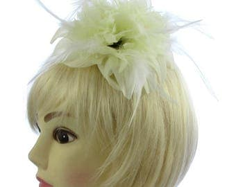 Ivory cream and white fascinator comb, weddings, races, ladies day