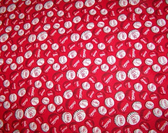 Coca-Cola Bottle Caps Fat Quarter