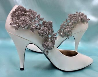 Wedding Shoes, Crystal Shoes, Rhinestone Shoes, Rhinestone Clips, Crystal Clips, Prom Shoes, Party Shoes, Formal Shoes, Black Tie