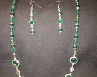 Swarovski Crystal Beaded Necklace and Earring Set