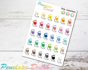 Dog Leash Planner Stickers