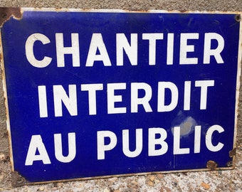 Vintage French Street Sign