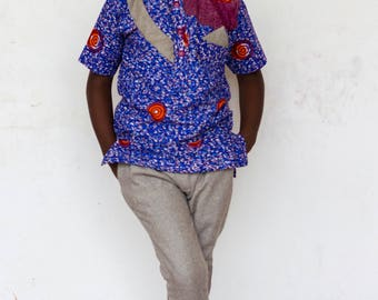 African Print Shirt with Matching Pants