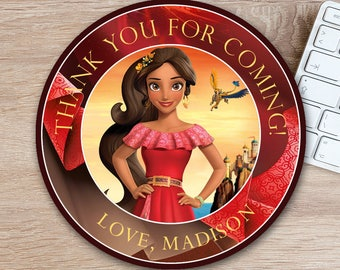 ON SALE 30%Elena of Avalor Favor Tag - Elena of Avalor Thank You Tag