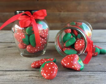 Kitchen Decoration, Home Decorating, Gift For Grandma, Kitchen Jars, Strawberry  Accessories,