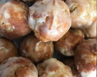 VEGAN Apple Fritters (Baked), Glazed