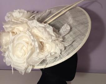 Ivory floral headpice