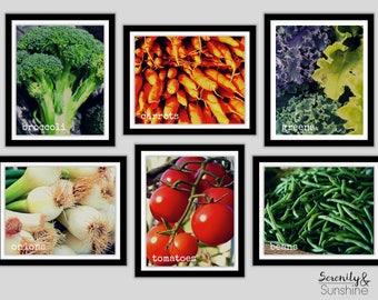 Gallery Wall Art Set | Kitchen Decor | Vegetable Art | Vegan Poster | Vegetarian Print | Herbivore | Veggie Print | Printable Wall Art