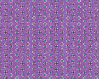 170130 Purple Dots, Night Bright by Wilmington Prints