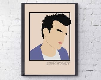 Morrissey Print Poster The Smiths Minimalistic