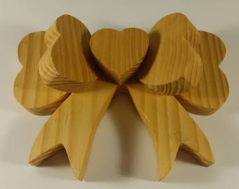Large All Wood Bow - Raw Wood