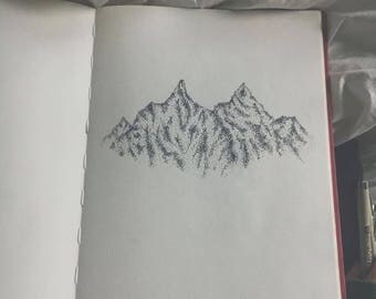 Mountain Pen and Ink Print