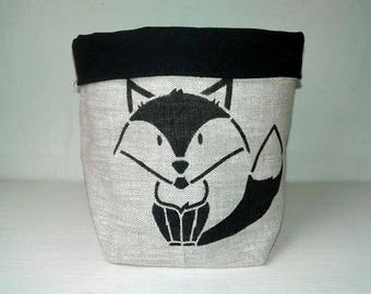 Fox fabric storage basket