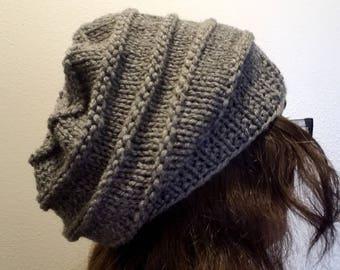 Scorpio Slouchy Knit Hat Knitting Pattern
