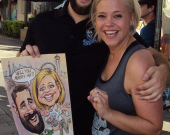 Marriage Proposal Caricatures