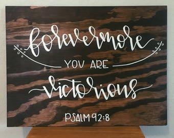 Wood Sign Home Decor - Bible Verse