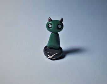Ogre Charm / Polymer Clay